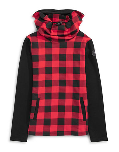 Parks Canada Original Cowl Neck Buffalo Check Sweater-BLACK-X-Large 87880841_BLACK_X-Large