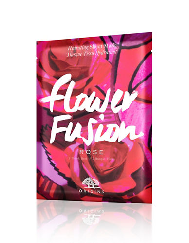 Origins Flower Fusion Rose Hydrating Sheet Mask-NO COLOUR-One Size