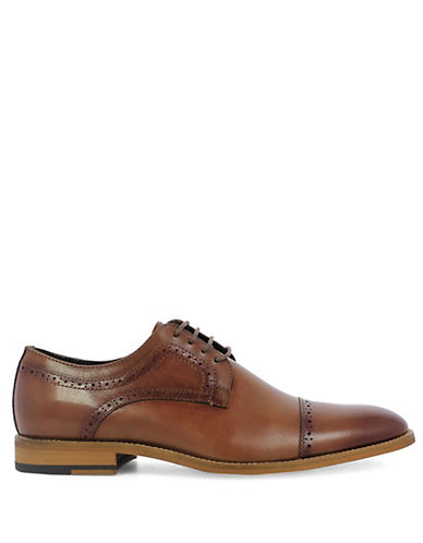 Stacy Adams Dickinson Cap Toe Leather Oxfords-COGNAC-8