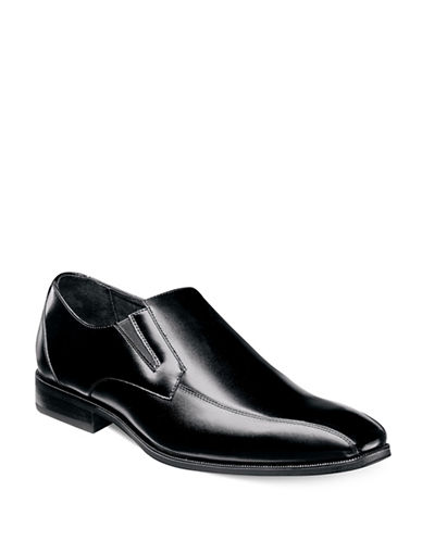 Stacy Adams Fairchild Bike Toe Dress Shoes-BLACK-11.5