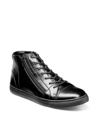 Stacy Adams High-Top Leather Sneaker-BLACK-8