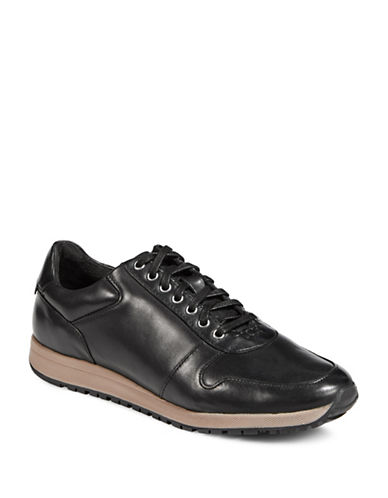 Stacy Adams Axel Lace-Up Sneakers-BLACK-8.5