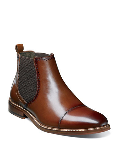 Stacy Adams Amory Leather Chelsea Boots-COGNAC-11