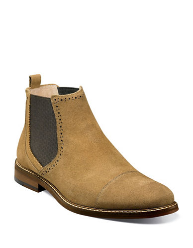 Stacy Adams Amory Suede Chelsea Boots-BROWN-9