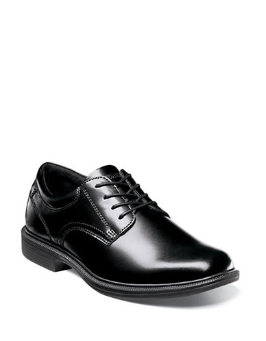 Nunn Bush Baker Street Plain Toe Oxfords-BLACK-11.5