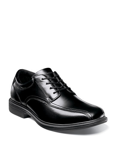 Nunn Bush Bartole Street Bike Toe Oxfords-BLACK-8W
