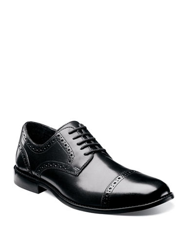 Nunn Bush Norcross Cap Toe Oxford-BLACK-8W