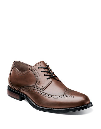 Nunn Bush Ryan Wing Tip Oxford-CHESTNUT-7.5