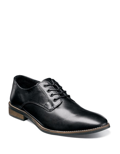 Nunn Bush Howell Plain Toe Oxford-BLACK-8W