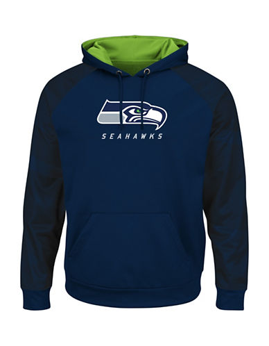 Majestic NFL Seattle Seahawks Armor II Synthetic Hoodie-NAVY-Medium