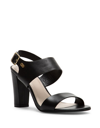 Cole Haan Octavia Leather Heeled Sandals-BLACK-8.5