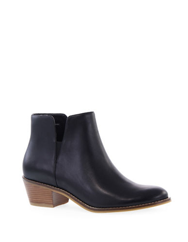 Cole Haan Suede Cowgirl-Chic Booties-BLACK-6.5