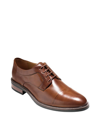 Cole Haan Warren Leather Oxfords-TAN-10.5
