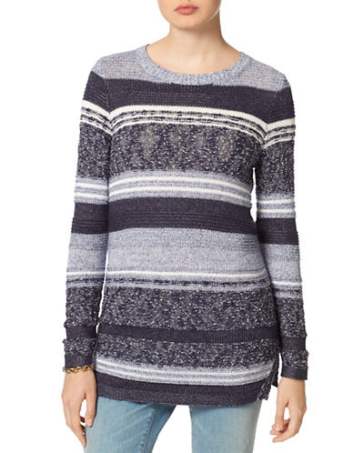 Tommy Hilfiger Multi-Knit Stripe Sweater-GREY-Medium 88649345_GREY_Medium
