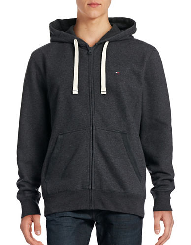 Tommy Hilfiger Plains Hoodie-CHARCOAL-Small 88642568_CHARCOAL_Small