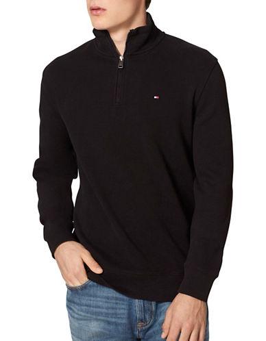 Tommy Hilfiger Mill Quarter-Zip Pullover-BLACK-Small 88704020_BLACK_Small