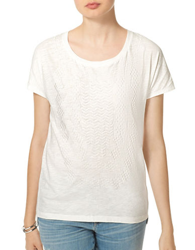 Tommy Hilfiger Embroidered Dolman T-Shirt-WHITE-X-Small