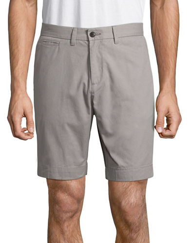 Tommy Hilfiger Custom-Fit Chino Shorts-FROST GREY-40