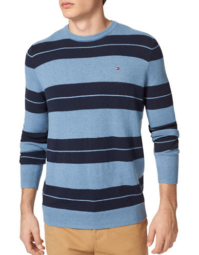 Tommy Hilfiger Striker Rugby Crew Neck Sweater-BLUE-Small 88780736_BLUE_Small