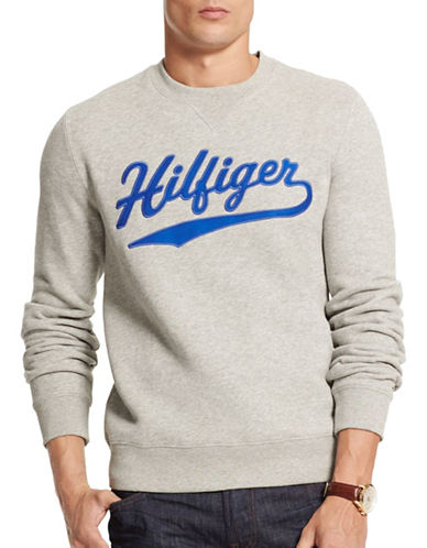 Tommy Hilfiger Fleece Logo Sweatshirt-GREY-Small 88780758_GREY_Small