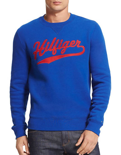 Tommy Hilfiger Fleece Logo Sweatshirt-BLUE-X-Large 88780776_BLUE_X-Large