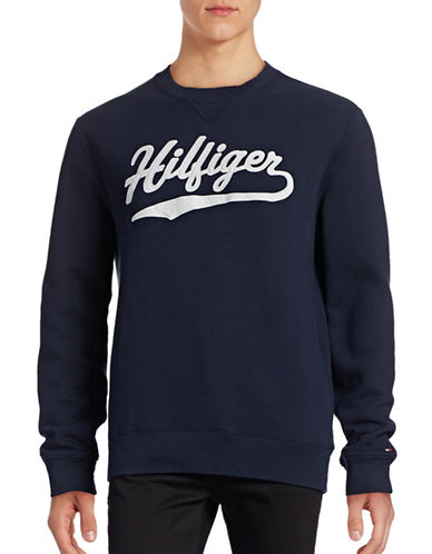 Tommy Hilfiger Fleece Logo Sweatshirt-NAVY-X-Large 88780766_NAVY_X-Large