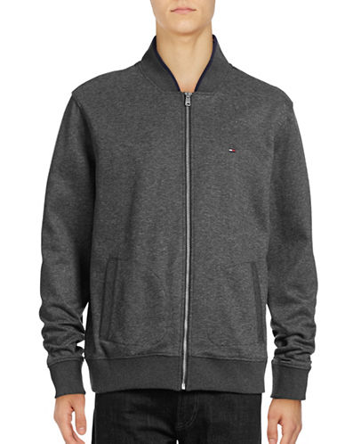 Tommy Hilfiger Jayden Knit Bomber-CHARCOAL-Medium