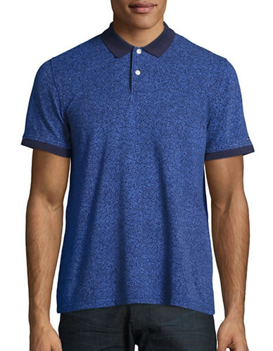 Tommy Hilfiger Custom-Fit Printed Polo-PEACOAT-Large