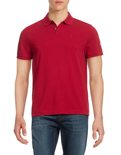 Tommy Hilfiger Custom Fit Embroidered-Logo Polo-CHILI PEPPER-XX-Large