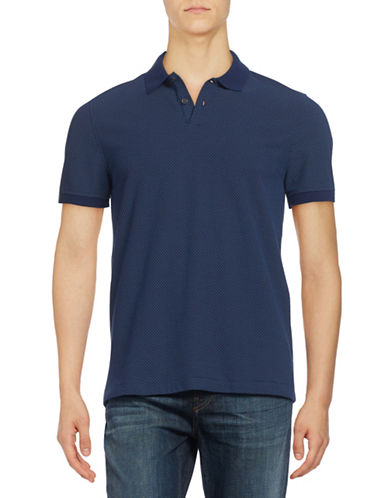 Tommy Hilfiger Custom-Fit Dotted Polo-MEDIEVAL BLUE-Large