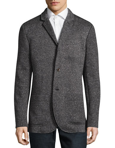 Tommy Hilfiger Rolins Zigzag Sports Jacket-CHARCOAL GREY-Large
