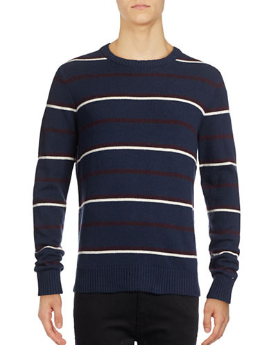 Tommy Hilfiger Justin Jersey Wool-Blend Sweater-NAVY-XX-Large