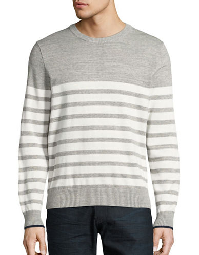 Tommy Hilfiger Block Stripe Crew Sweater-GREY-Medium 88924608_GREY_Medium