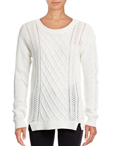 Tommy Hilfiger Dalia Cable Pullover-WHITE-Small 88861414_WHITE_Small