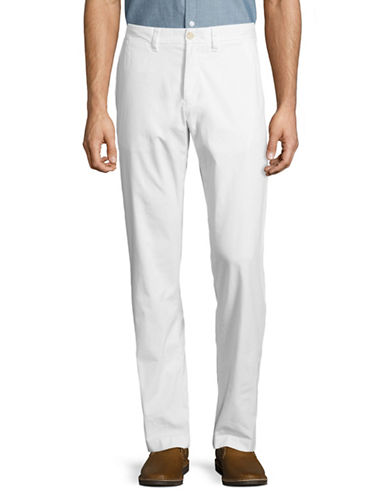 Tommy Hilfiger Custom-Fit Chino Pants-WHITE-32X30