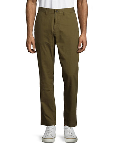 Tommy Hilfiger Custom-Fit Chino Pants-GREEN-34X32
