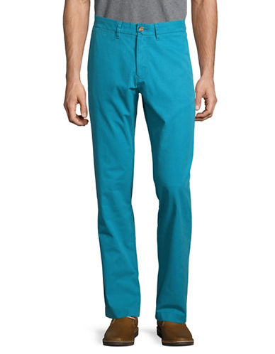 Tommy Hilfiger Custom-Fit Chino Pants-LIGHT BLUE-32X30