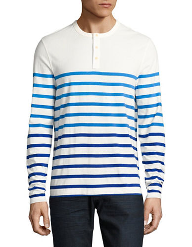Tommy Hilfiger Long Sleeve Stripe Henley Top-WHITE-Small 89193181_WHITE_Small