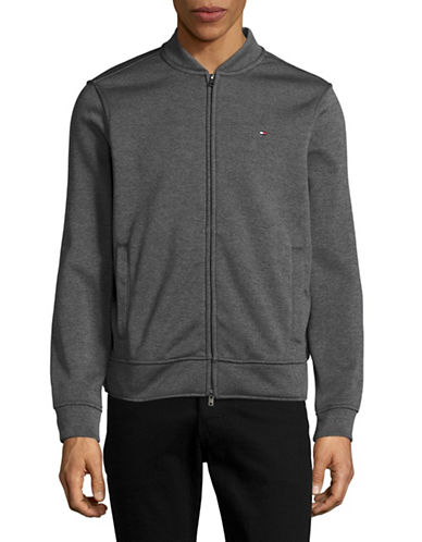 Tommy Hilfiger Lancelo Zip Front Baseball Jacket-GREY-Medium 89081272_GREY_Medium