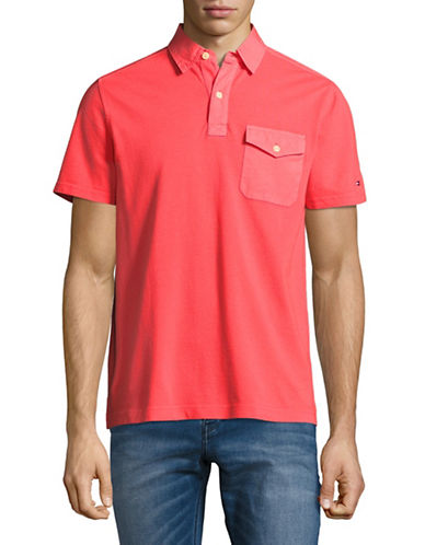 Tommy Hilfiger Finbar Two-Tone Polo-CAYENNE-Small