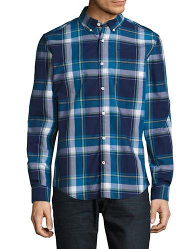 Tommy Hilfiger Lyle Plaid Sport Shirt-BLUE-Small