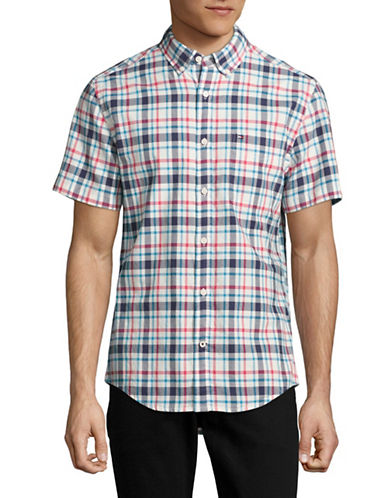 Tommy Hilfiger Dax Plaid Sport Shirt-PINK-Small