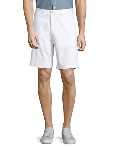 Tommy Hilfiger Cotton Twill Walking Shorts-BRIGHT WHITE-30