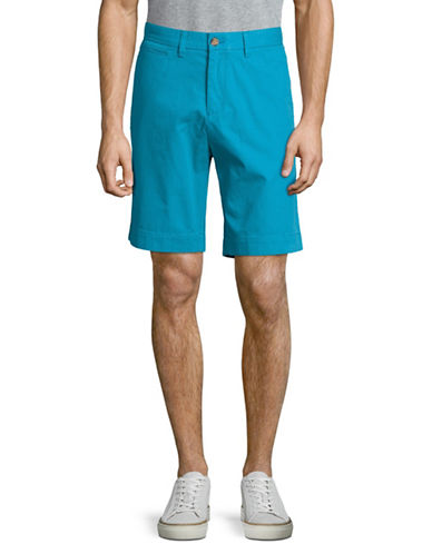Tommy Hilfiger Cotton Twill Walking Shorts-BLUE-40
