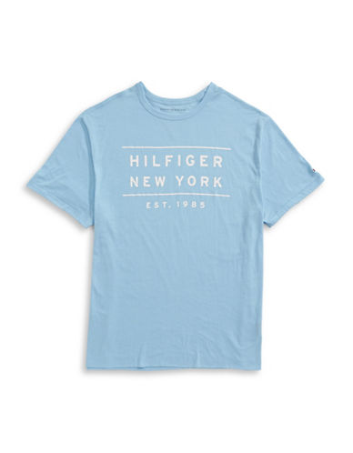 Tommy Hilfiger Big and Tall Bus Stop T-Shirt-BLUE-1X Tall