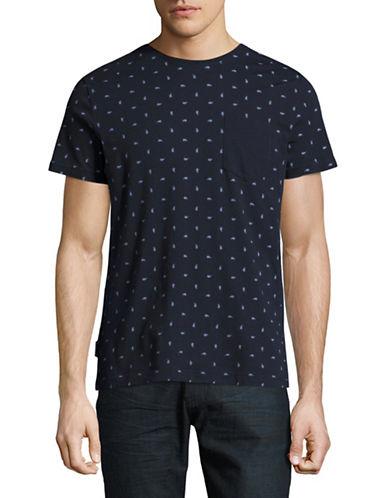 Tommy Hilfiger Jude Print Crew Neck T-Shirt-BLUE-X-Large