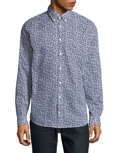 Tommy Hilfiger Flower Print Sport Shirt-DUTCH NAVY-Medium