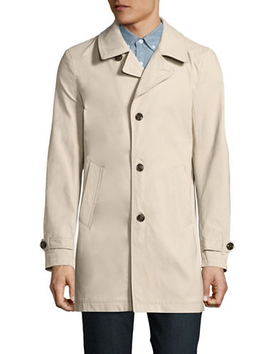 Tommy Hilfiger Canvas Trench Coat-BEIGE-X-Large