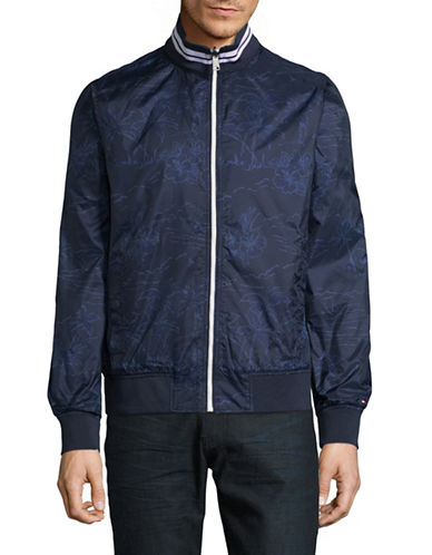 Tommy Hilfiger Soledad Reversible Bomber Jacket-BLUE-Medium