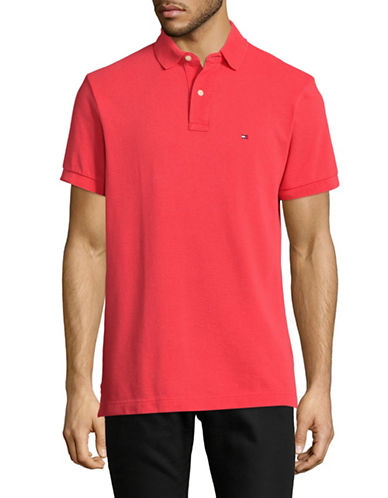 Tommy Hilfiger Custom-Fit Solid Polo-YELLOW-Medium